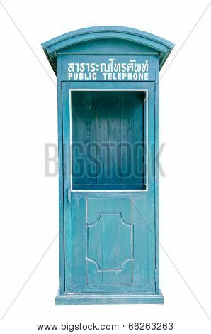 Public Telephone Box In Thailand