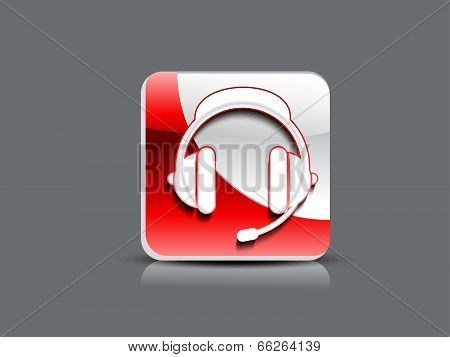 Abstract Glossy Hedphone Icon