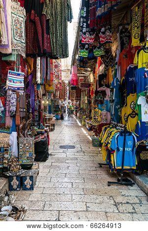 Market In Arab Quarter, Jerusalem
