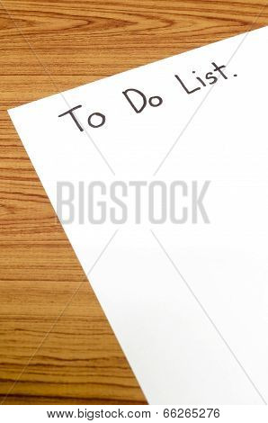 Paper Write To Do List