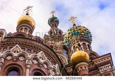 St. Petersburg, Russia. Architectural details of the Savior on Spilled Blood Cathedral