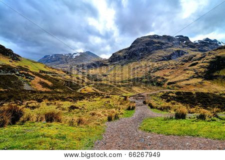 Scenic Scottish highlands