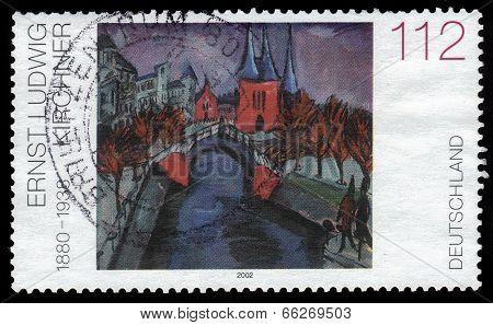 Elisabethufer By Ernst Ludwig Kirchner