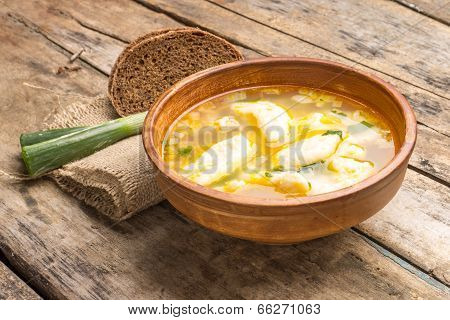 National Ukrainian Soup With Galushky.