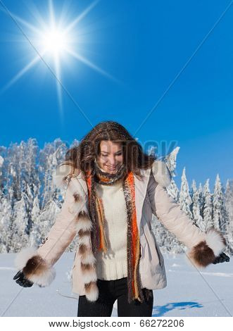 Frosty Scene Midwinter Sunshine