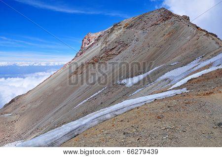 Snow and Ice near summit of Iztaccihuatl Volcano, Mexico