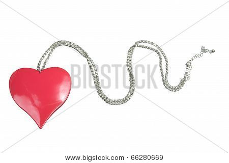 Necklace with Love Heart Pendant