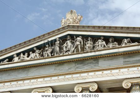 Detail Of Frieze Of Academy Of Athens, Greece