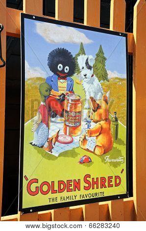 Golden Shred Advert.