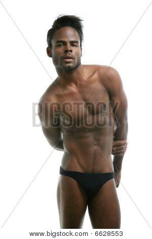 African American Male Model Underwear