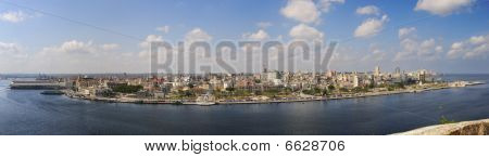 Panoramic View Of Havana Waterfront