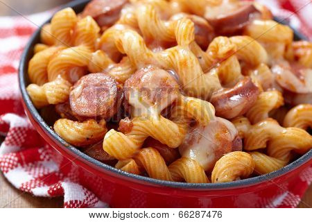 pasta with smoked sausage