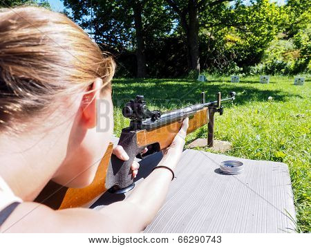 Young Female Shooter