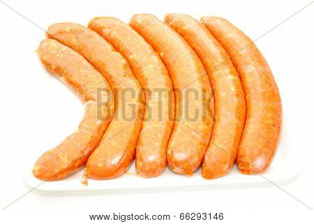 Raw Hot And Spicy Italian Sausage Links