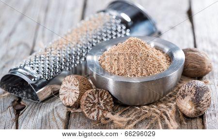Small Bowl With Nutmeg Powder