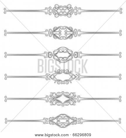 Set of six classical style page rules