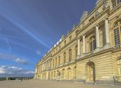 picture of versaille  - Versailles Chateau exterior in a sunny day near Paris France