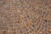 stock photo of porphyry  - Geometric floor with multi colored blocks of porphyry  - JPG