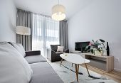 image of scandinavian  - Modern white interior design room in scandinavian style - JPG