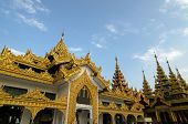 picture of yangon  - Buddhist shrine - JPG