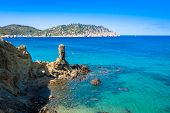 picture of tanga  - Beautiful view of the azure water on the island of Ibiza in Europe - JPG