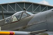 stock photo of spitfire  - Cockpit of British World War 2 Spitfire fighter - JPG