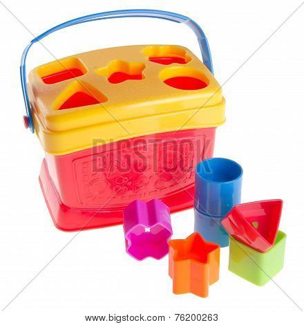 Shape Sorter. Childs Toy Shape Sorter On A Background