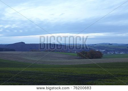 Eifel (germany) - Landscape In The Evening