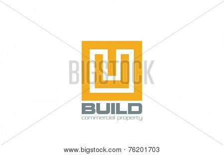 Logo Square Box abstract design vector template icon. Use for Real Estate, Jewelry, Corporate, Luxury Logotype concept.
