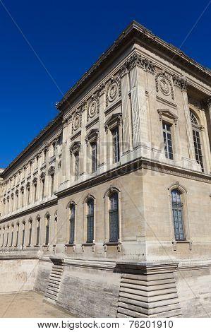 Facade Of The Louvre Museum, Paris, Ile-de-france, France
