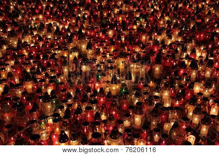 Cemetery candles