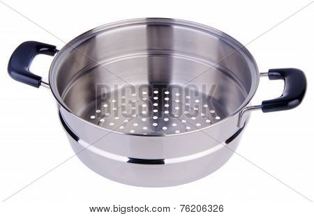 Steamer Pan On Background