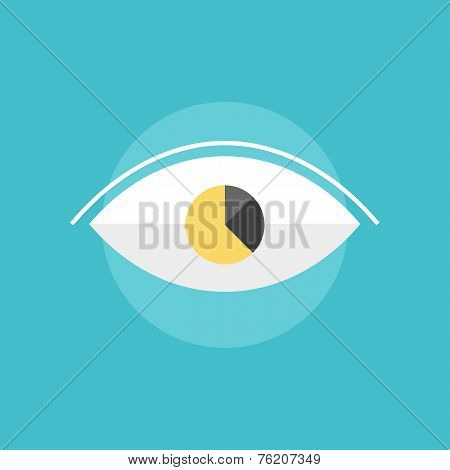 Corporate Vision Concept Flat Icon Illustration