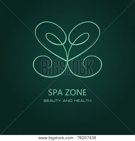 Butterfly symbol of spa. Logo. Vector Icon