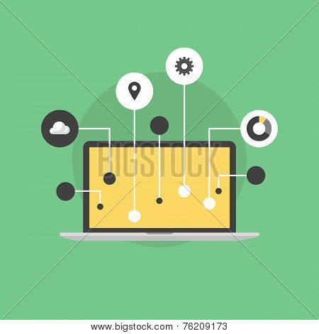 Internet Of Things Flat Icon Illustration