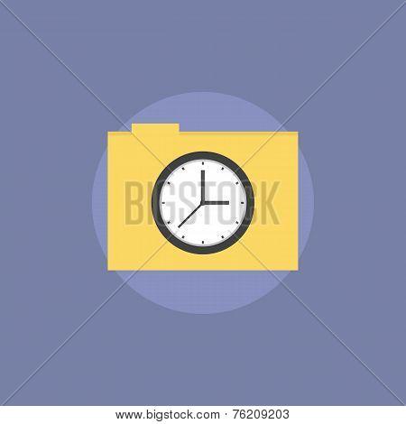Task Folder Flat Icon Illustration