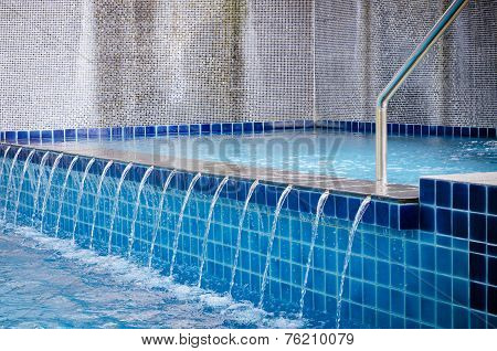 Edge Of The Swimming Pool Overflow