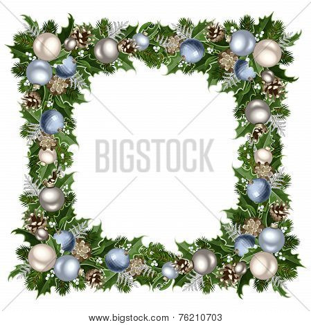 Christmas frame. Vector illustration.