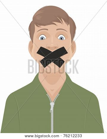 Man With A Taped Mouth