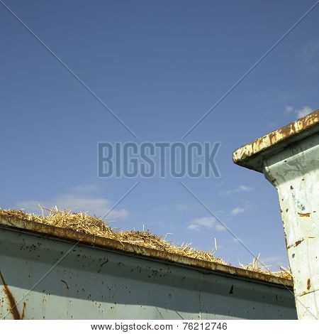 Containers With Hay