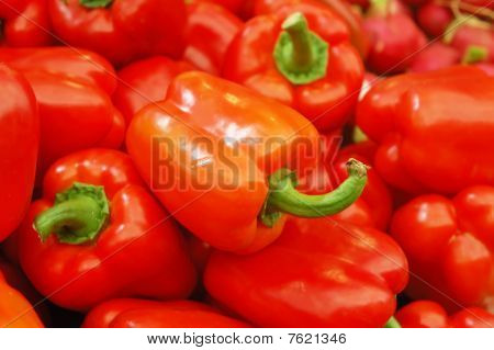 Close Up Of Peppers