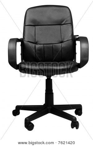 Office Leather Chair Isolated On White Background