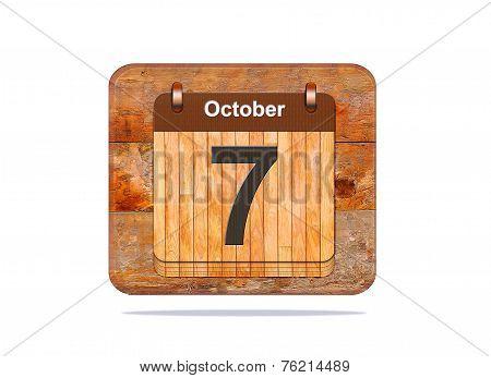 October 7.