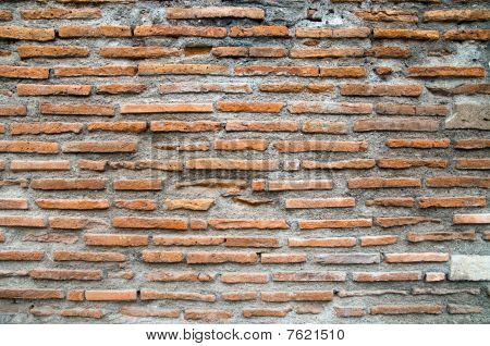 The Brick Wall As Background