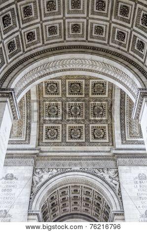 Detail Of The Underneath Of The Arc De Triumph