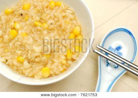 Healthy Chinese Brown Rice Porridge