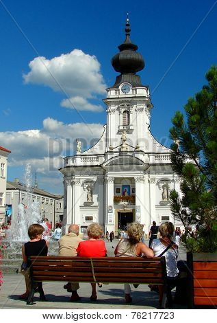 Basilica in Wadowice - a birthplace of saint John Paul II