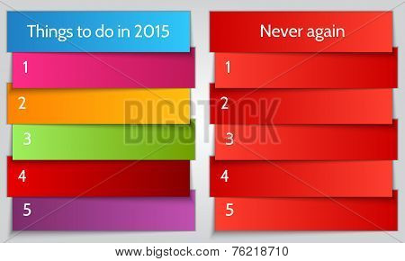 Vector New Year Resolution double List template