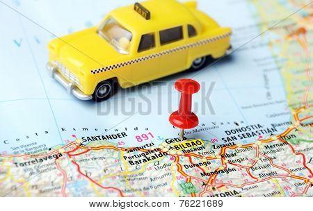 Bilbao ,spain Map Taxi