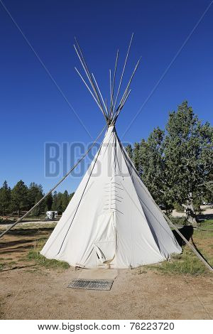 Traditional North American Teepee at RV Park near Zion National Park, Arizona